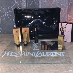 YSL BEAUTE Cosmetic Bag with Cosmetics